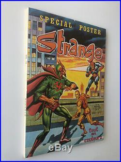 Superbe STRANGE N° 52 LUG 1974 E. O 100 % Authentique Avec POSTER SPIDERMAN