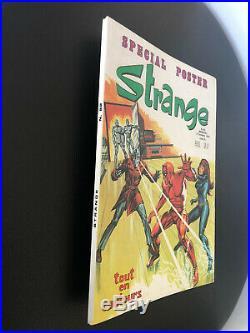 Superbe STRANGE N° 82 poster Attaché Encarté E. O LUG 1976 TTBE