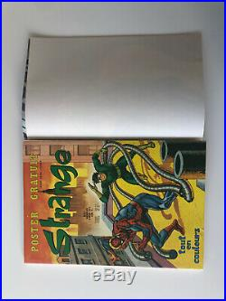 Superbe STRANGE N° 87 E. O LUG 1977 TTBE POSTER attaché encarté QUASI NEUF