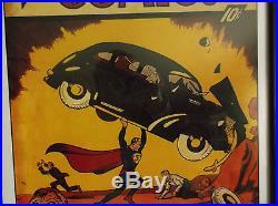 Superman Action Comic Litho Limited Edition Framed Signed Sheldon Moldoff
