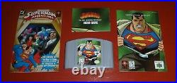 Superman (Nintendo 64, 1999 N64) -Complete withRegistration/Comic Book/Poster