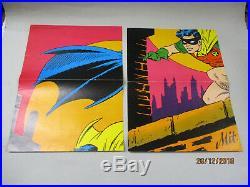 Superman Poster Beilage 1968 Batman 2. & 3. Teil