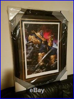 THANOS ON THRONE Framed Art Print by Sideshow Avengers/Infinity War/Gauntlet