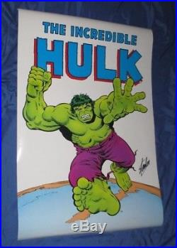 THE INCREDIBLE HULK Vintage Poster SIGNED by STAN LEE 1985