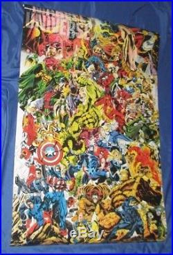 THE MARVEL UNIVERSE Vintage Poster SIGNED by STAN LEE Hulk/Silver Surfer/Thor +