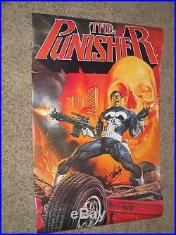 THE PUNISHER Vintage Poster SIGNED by STAN LEE Marvel/Joe Jusko Art/Netflix TV