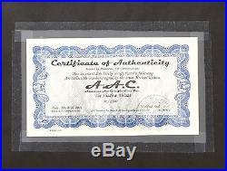 THE SHADOW ABLAZE Framed Lithograph Print Signed Mike Kaluta 1987 COA #31/2500