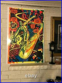 THIRD EYE SILVER SURFER I'M FREE MARVEL Black light poster #4005 JACK KIRBY