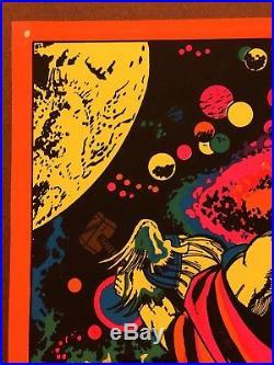 THOR (ASTRAL) ASGARD MARVEL THIRD EYE Black Light Poster TE4006 JACK KIRBY