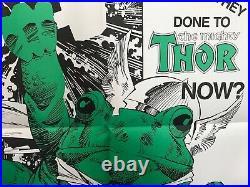 THOR FROG by Walt Simonson 1985 Promotional MARVEL comics VERY RARE PROMO POSTER