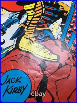 THOR Marvelmania Poster JACK KIRBY Vintage MARVEL 1970 Very Rare MAIL ORDER ONLY