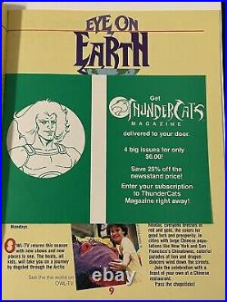 THUNDERCATS MAGAZINE PREMIERE ISSUE 1 COMIC BOOK 1ST PRINT 1987 WithPOSTER