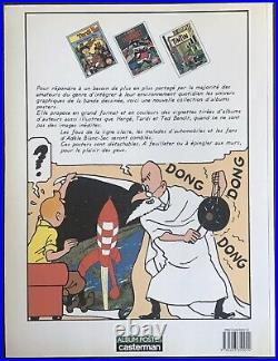 TINTIN Album Poster Casterman 21 planches 1986 Très bon état