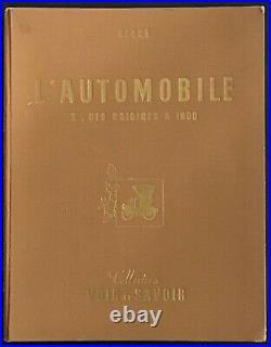 TINTIN Chromos Voir et Savoir LAutomobile Des origines à 1900 Complet Bon état