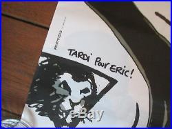 Tardi Bernard Lavilliers Rare Affiche promotionnelle 1984 Barclay Signée