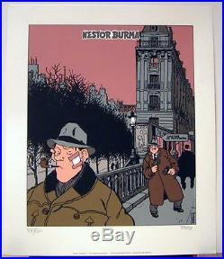 Tardi serigraphie Nestor Burma a Montmartre 500 ex signe Images Nouvelles 1991
