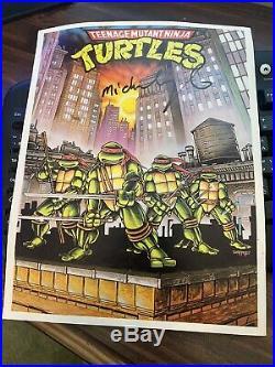 Teenage Mutant Ninja Turtles Original Vintage Poster Pin Up Comic Books 1989