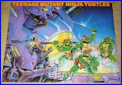 Teenage Mutant Ninja Turtles poster 28 x 21.5 art from nes game 1988 #95