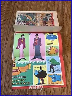 The Beatles Yellow Submarine 1968 comic book C-8 condition with attached poster