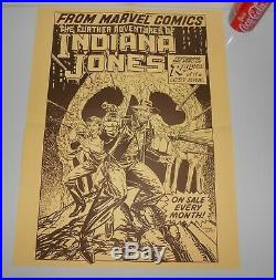 The Further Adventures of Indiana Jones Vintage Marvel Comics POSTER 1980's