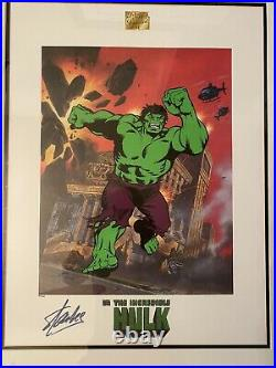 The Incredible Hulk Marvel Limited Edition Framed Art Lithograph Signed Stan Lee