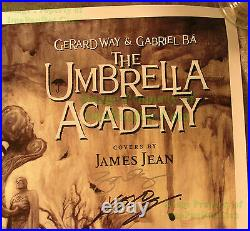 The Umbrella Academy LE 500 Lithograph Poster Signed Gerard Way Chemical Romance