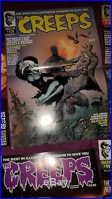 The creeps comic magazine poster lot 1-14 eerie horror corben frazetta ken kelly