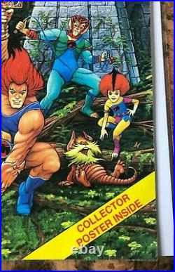 Thundercats Magazine #1 Premiere Issue Winter 1987 Poster Intact