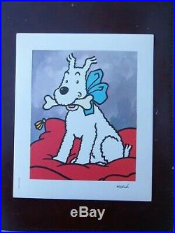 Tintin Hergé Portraits bien complet de ses 8 portraits Casterman TTBE