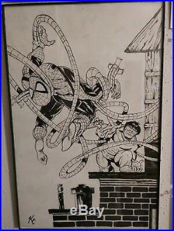 Todd Mcfarlane Spider-man 1991 Original Poster Book Homage By Kieth Curtis