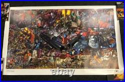 Transformers Mega Litho Dreamwave Comics Lithograph Print 2002 3'x5' Huge