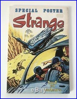 Très RARE STRANGE N° 63 E. O LUG 1975 TBE POSTER attaché encarté X-MEN