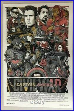 Tyler Stout Mondo Captain America Civil War Variant Poster Print 24 x 36