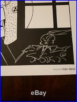USAGI YOJIMBO ALBEDO #2 B/W VARIANT POSTER SDCC COMIC & original art sketch cgc