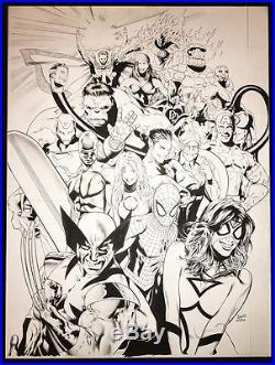 USPO Marvel Comics Superhero Poster Art by Greg Land Spider-Man Hulk Wolverine