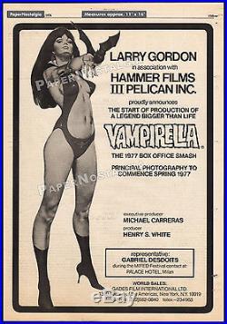 VAMPIRELLA Orig. 1976 Trade AD / poster unproduced HAMMER film Jose Gonzalez