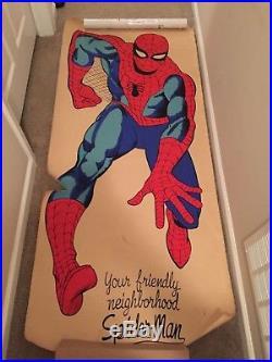 VINTAGE 1965 Marvel Marvelmania 6' Friendly Neighborhood SPIDER-MAN Door Poster