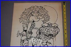 Vaughn Bode SIGNED Comic Art Print Poster Erotica TK II 1973 Underground Comix