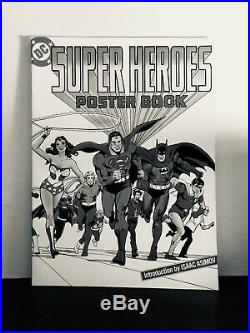 Very Rare Vintage Original DC Super Heroes Poster Book! 1978! Great Condition