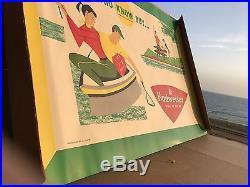 Vintage 1954 Budweiser Anheuser Busch Advertising Poster Sign