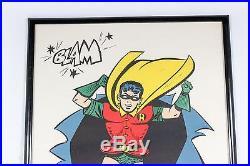 Vintage 1966 Robin Poster Batman Movie TV Comic Crash Blam The Joker