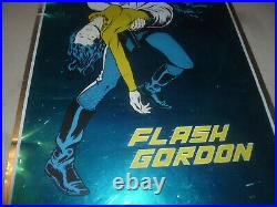 Vintage 1972 Flashbacks Flash Gordon Comic Book Poster Mylar Foil Rare 30 X 21