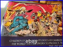 Vintage 1992 Marvel Comics Jim Lee extra large Poster 59x30 X-Men 1 Colorful