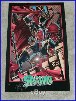 Vintage 1994 Todd McFarlane 1995 Signed Spawn Art Print Poster Print Mounted
