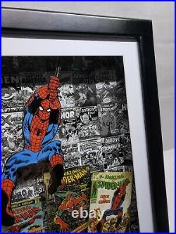 Vintage 90s Style Marvel Spider-man Comic Books Wall Art