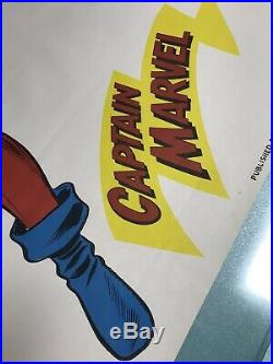 Vintage Captain Marvel Comic Poster 38 x 25, by United Book Guild New York