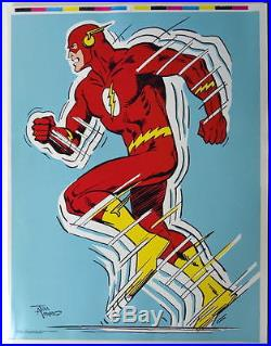 Vintage DC 1978 UNCUT SHEET PRINTER PROOF POSTERS Rare Batman Flash Wonder Woman