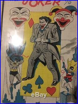 Vintage Joker Vs Batman Banner Wall Hanging Tapestry 1966