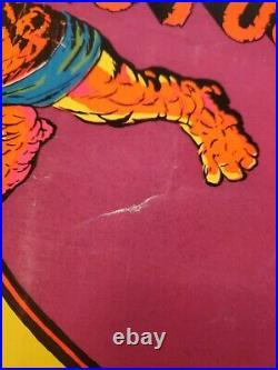Vintage Marvel 1971 Fantastic Four Floating City Blacklight Poster 4011