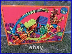 Vintage Marvel 1971 Third Eye Fantastic Four Blacklight Poster